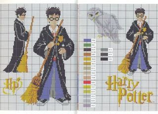 CHARMS IN CROSS POINT: Harry Potter... over 13 Harry Potter themed cross stitch patterns!
