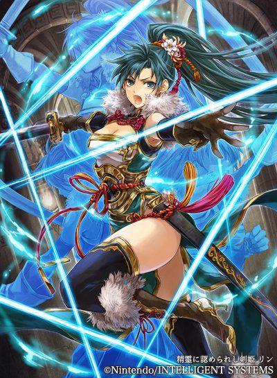Ilustraciones completas - Lyn - Artworks e imágenes - Galería Fire Emblem Wars Of Dragons