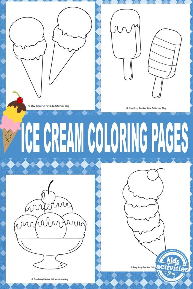 While these ice cream coloring pages won't cool you down on a hot day they will bring in some fun!