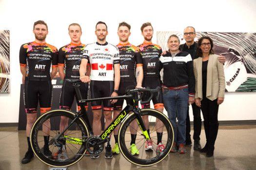 Team Garneau-Quebecor Official Launch – Louis Garneau Finances the Team with his Paintings