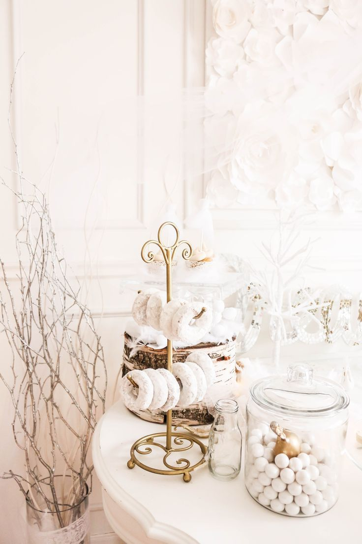 A Darling Daydream, swan lake birthday party, white birthday party, winter wonderland birthday party, birthday party ideas, dessert bar, dessert table