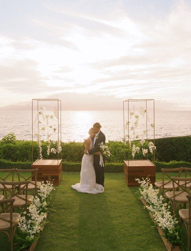 5 Reasons Why Hawaii Is The Perfect Place For Your Destination Wedding Belle The Magazine Sunset Wedding Photos Hawaiian Destination Weddings Romantic Sunset Wedding
