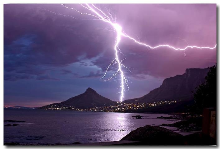 electric storm, Cape Town, February 2012