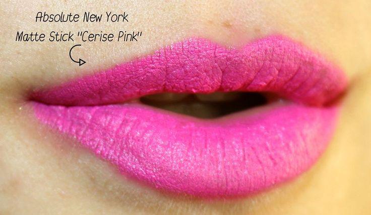 "Matte Stick in ""Cerise Pink"" byAbsolute New York Europe"