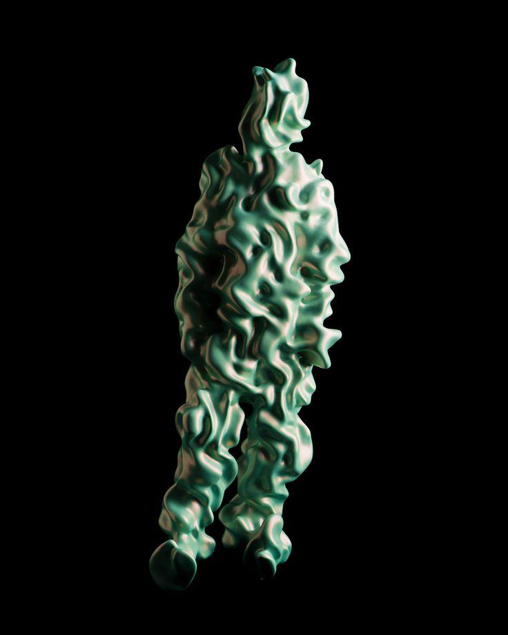 """Caras Texturizado Kohei Nawa, CdC, 06-09  """"TRANS"""" es la última serie de obras escultóricas del artista japonés Kohei Nawa .   Cada pieza es una representación suelto de una figura humana, cuya forma ha sido extraída a través de la aplicación de diversos procesos de acabado a la superficie de los motivos 3D escaneados a través de mapeado de texturas."""