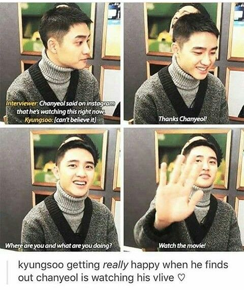 Chansoo is bro goals.