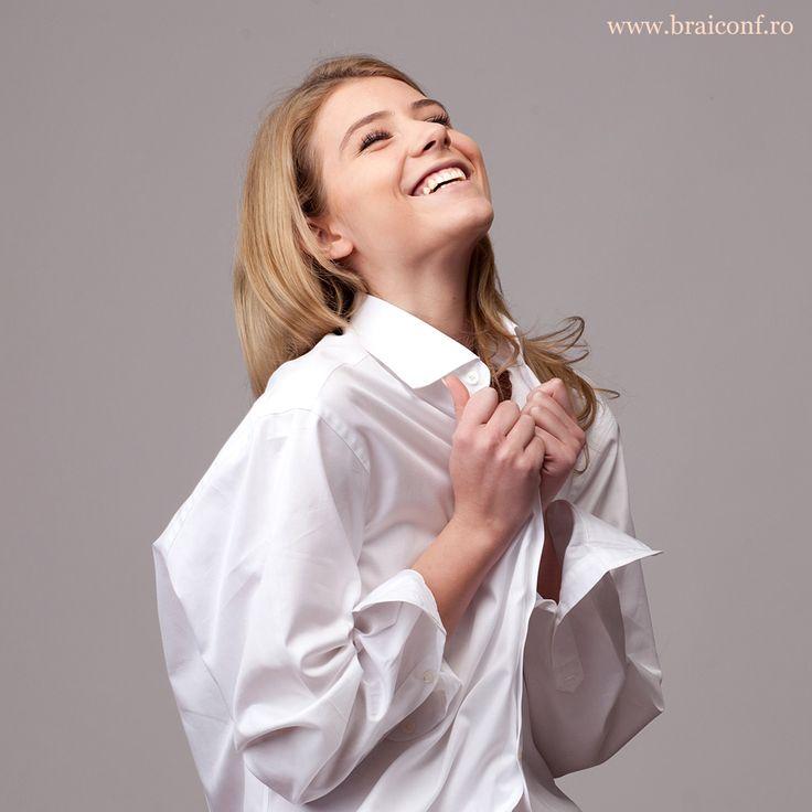 Împrumută-i cămașa preferată de la Braiconf pentru a simți cele mai delicate țesături direct pe pielea sa!