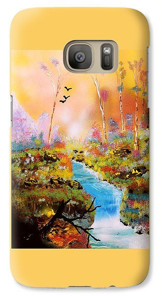 Land Of Oz Galaxy S7 Case Printed with Fine Art spray painting image Land Of Oz by Nandor Molnar (When you visit the Shop, change the orientation, background color and image size as you wish)