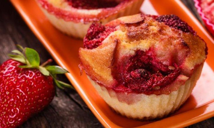 Fraises et bananes : Le muffin sans sucre... à manger sans culpabilité!