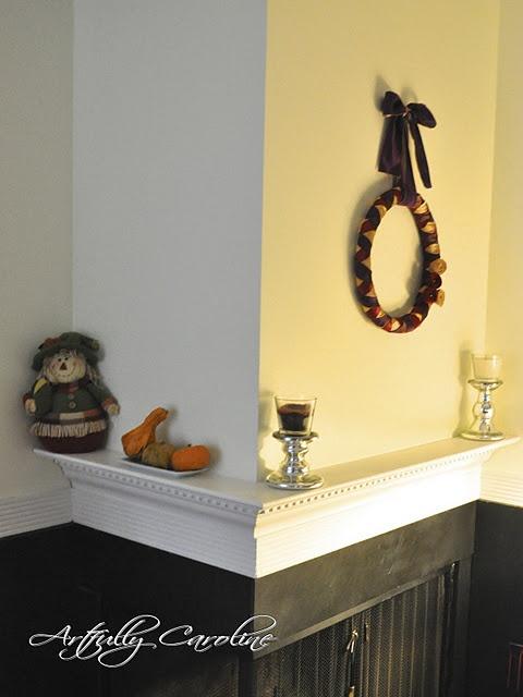love this shelf over fireplace idea