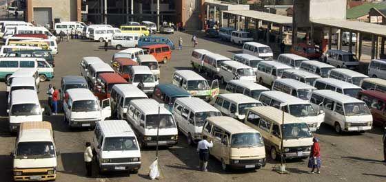 The Johannesburg taxi rank.
