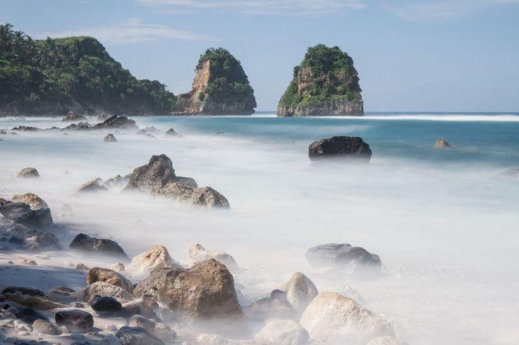 Beach in Nihiwatu Resort, Indonesia.