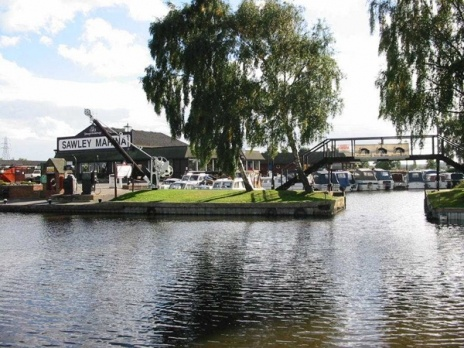 Sawley Marina is located on a navigational cut of the River Trent near Long Eaton, Nottingham and is the largest Inland Marina in the United Kingdom, with a water space of 23 acres. Quality flood protected moorings with electricity and water at each location are provided for 600 boats.