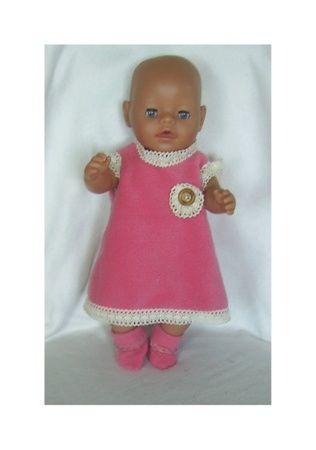 Dukkeklær til dukke 43 cm