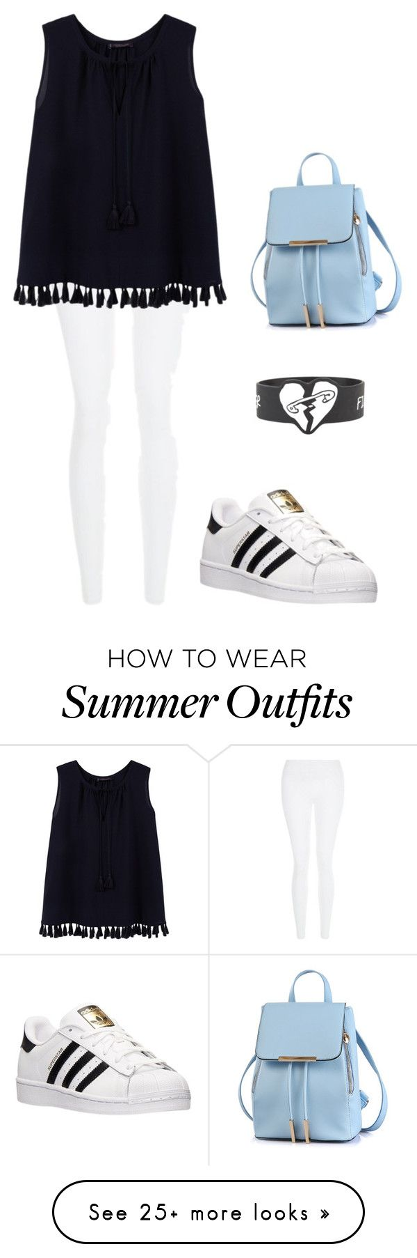 """My First Polyvore Outfit"" by shekoooh777 on Polyvore featuring New Look, Violeta by Mango and adidas"