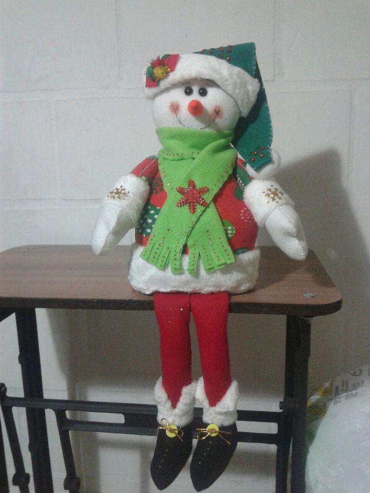 Muñeco de nieve patilargo