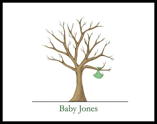 baby shower fingerprint guest books from guest tree baby blog best