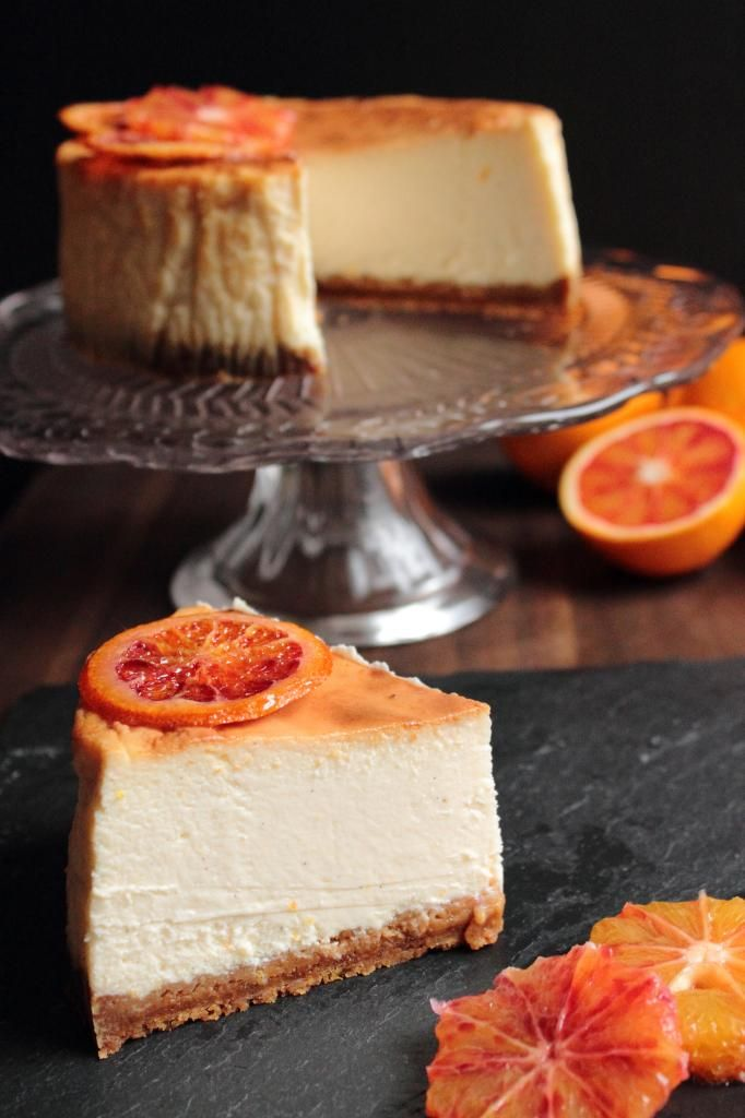 Figs and Pigs: Baked blood orange cheesecake
