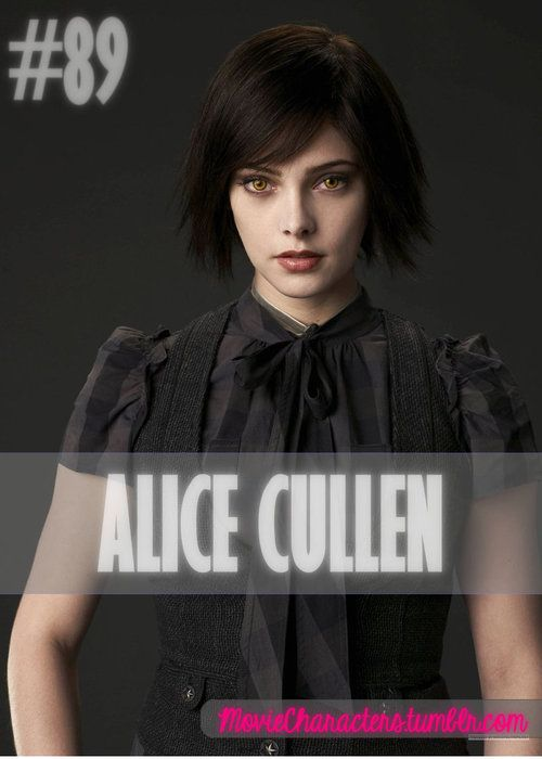 ALICE CULLEN  Played By: Ashley Greene Film: Twilight / New Moon / Eclipse / Breaking Dawn Part 1 / Breaking Dawn Part 2 Year: 2008 / 2009 / 2010 / 2011 / 2012