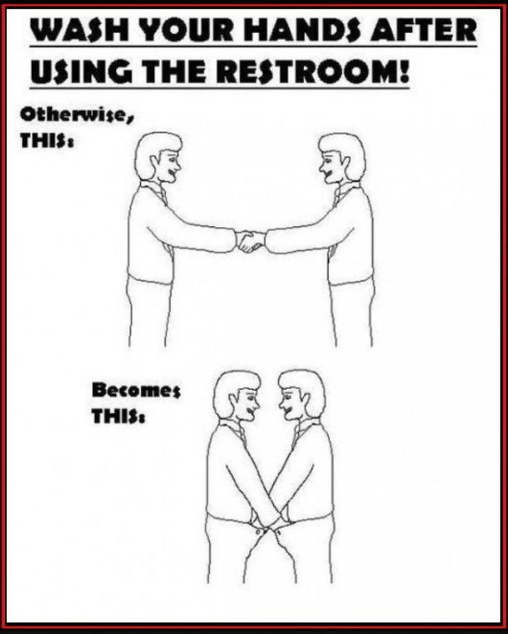 Posting this imagine on hospital restrooms is a new, extremely effective, Joint Commission hospital requirement.. jk