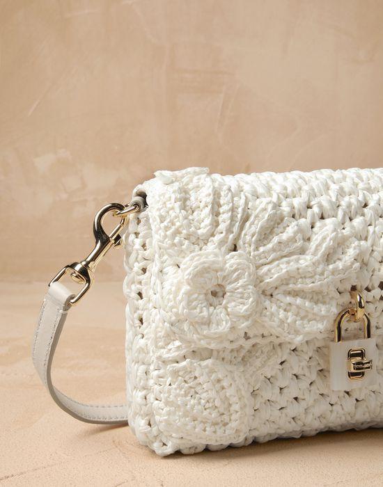 Dolce bag uncinetto fiori rafia Donna - Borse Donna su Online Store Italia - Dolce Gabbana Group