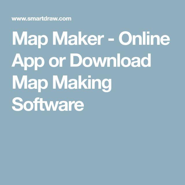 Map Maker - Online App or Download Map Making Software