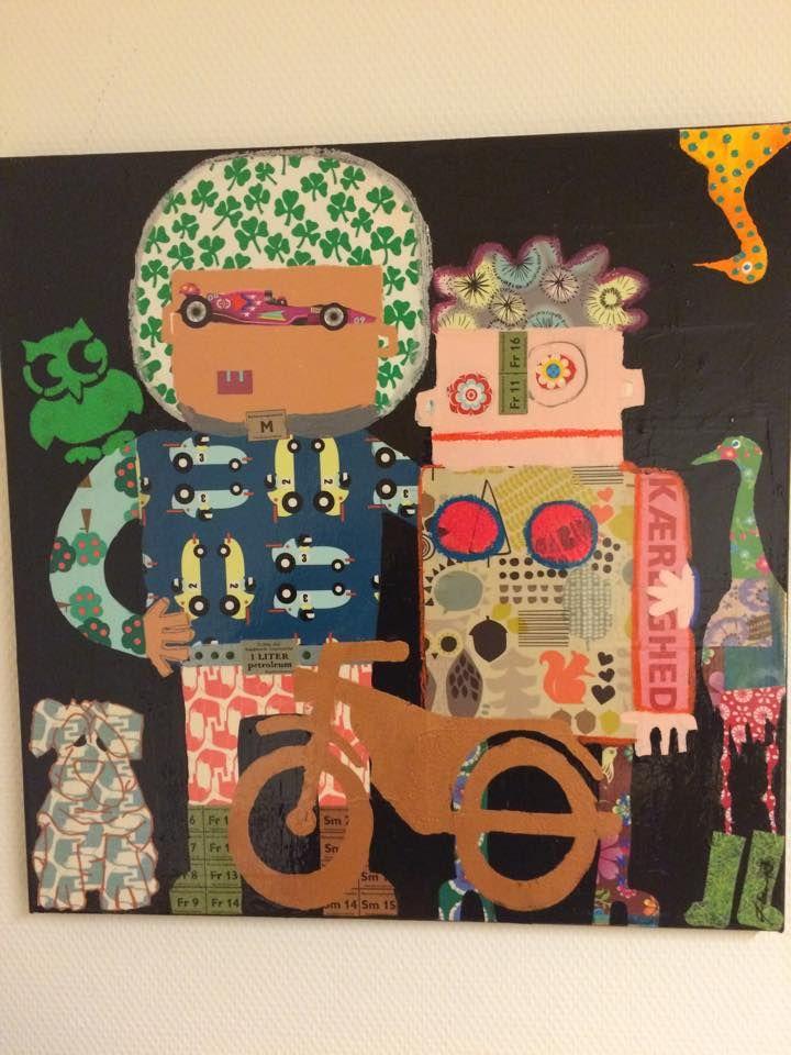 Made by artist Iben Laursen - collage maker and fingerpainter www.ibenlaursen.dk Contact: ibensfarverige@gm... Facebook: Ibens Farverige