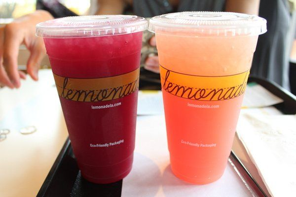Berry mint lemonade and watermelon rosemary lemonade