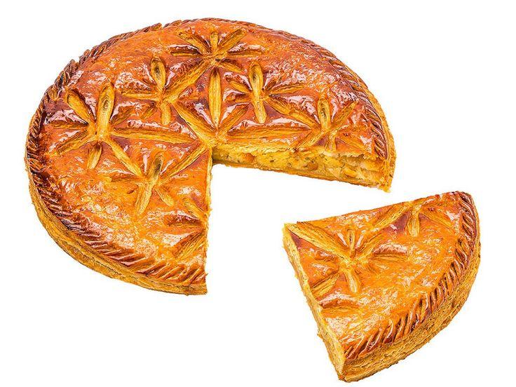 Galette des rois agrumes anis Dominique Saibron : anis associé à une frangipane aux oranges et citrons confits . 8 personnes 31,50 €.