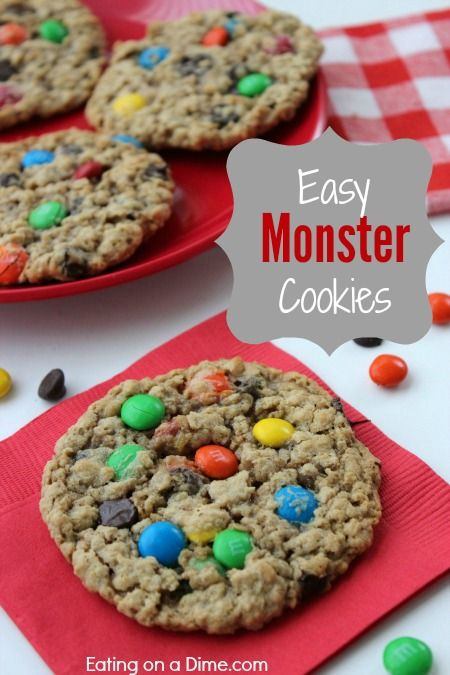 Quick and Easy Monster Cookies - Eating on a Dime