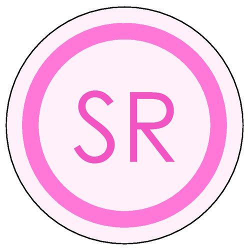 free monogram templates pink monogram round label. Black Bedroom Furniture Sets. Home Design Ideas