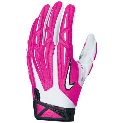 Nike Men's Superbad 2.0 Football Gloves... in honor of Breast Cancer   #beatcancer