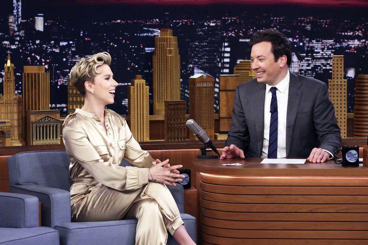 THE TONIGHT SHOW STARRING JIMMY FALLON – Episode 0647 – Scarlett Johansson and host Jimmy Fallon on March 27, 2017