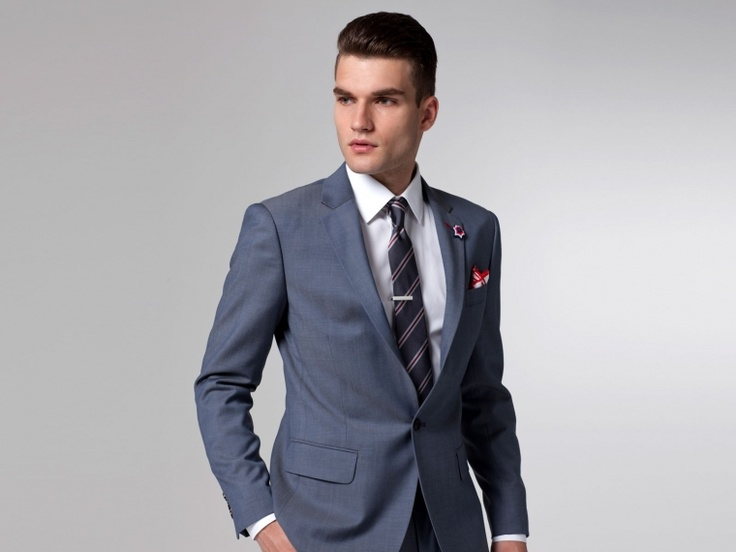 Love the color. The Superhero Steel Blue Twill Suit | Indochino
