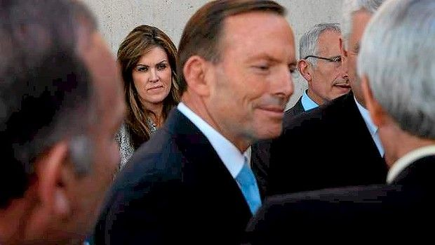 "Right-wing Australian PM, Tony Abbott, has backed two far-right political commentators - the pig of a News Corporation (i.e. Rupert Murdoch) commentator, Andrew Bolt, and the utter pig of a Sydney-based radio ""shock-jock"", Alan Jones, against one of his senior MPs, the centre-right aligned Malcolm Turnbull - well, now we know who's actually running the country!"