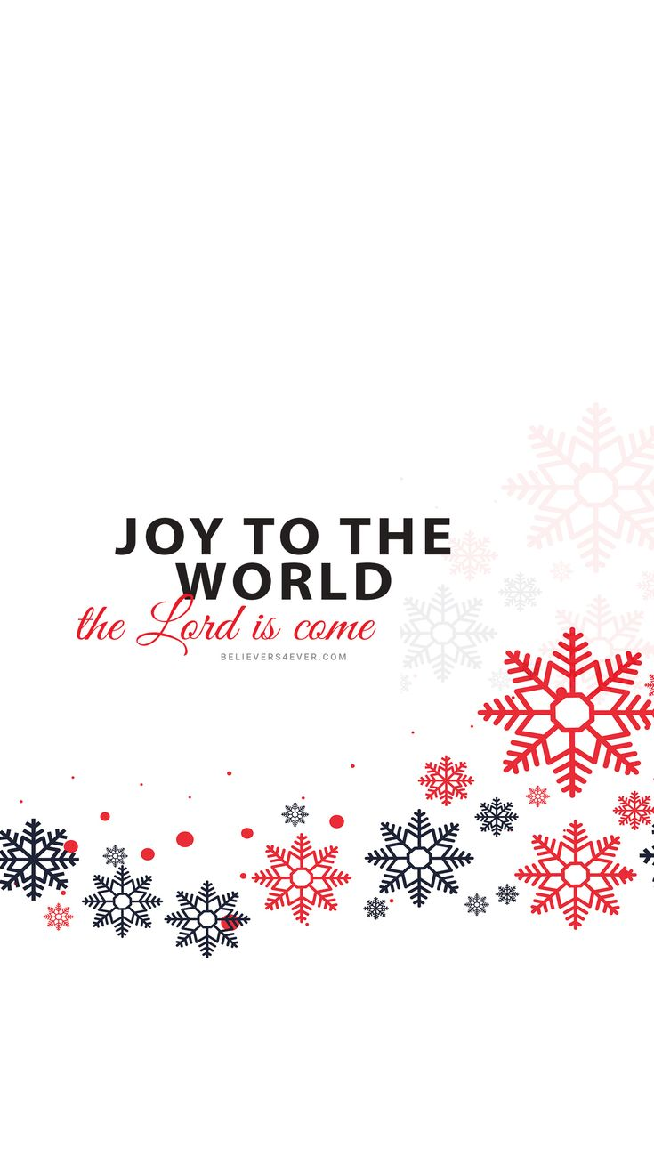 Joy to the world the Lord is come. Free #Christmas Mobile wallpaper background lockscreen. Download Free #Wallpaper for your Android and iPhone. Samsung wallpaper