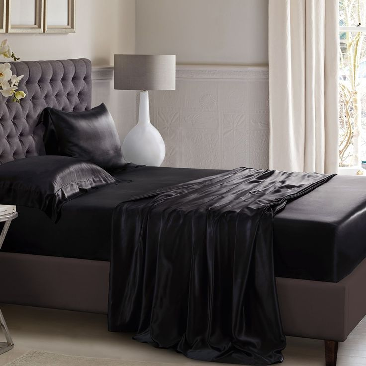 Just experience the softness and luxury feeling of the black silk flat sheet. Made from 100% pure mulberry silk.