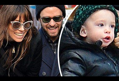 Justin Timberlake and Jessica Biel wrap up warm with cute son Silas