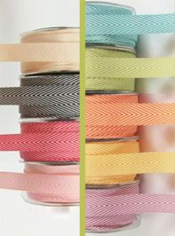 Chevron stripe twill tape