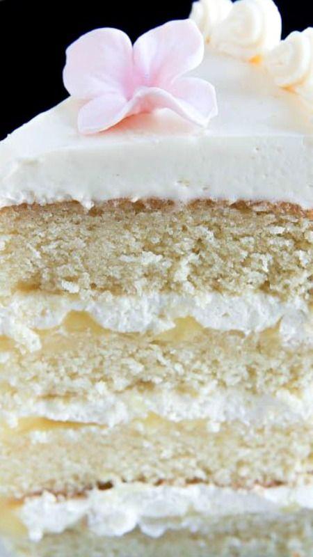 Hot Milk Cake with Lemon Curd and Italian Meringue Buttercream Recipe + Tutorial ~  Rich, lemony, decadent and vreamy