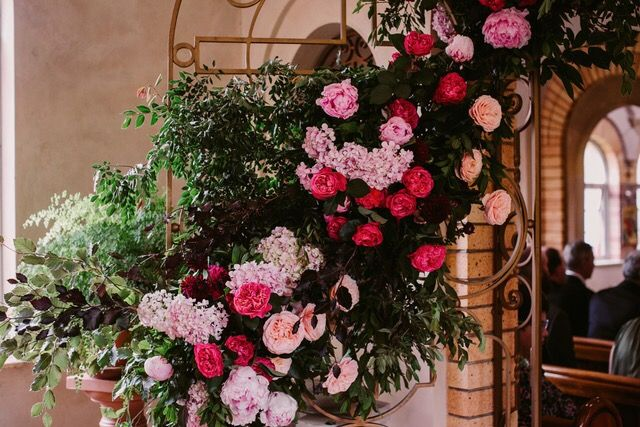 Flower Entrance to church by Emma Blake Floral