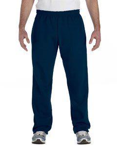 Gildan G184 7.75 oz. 50/50 Open-Bottom Sweatpants - Navy - 5XL. Size: 5 B(M) US.