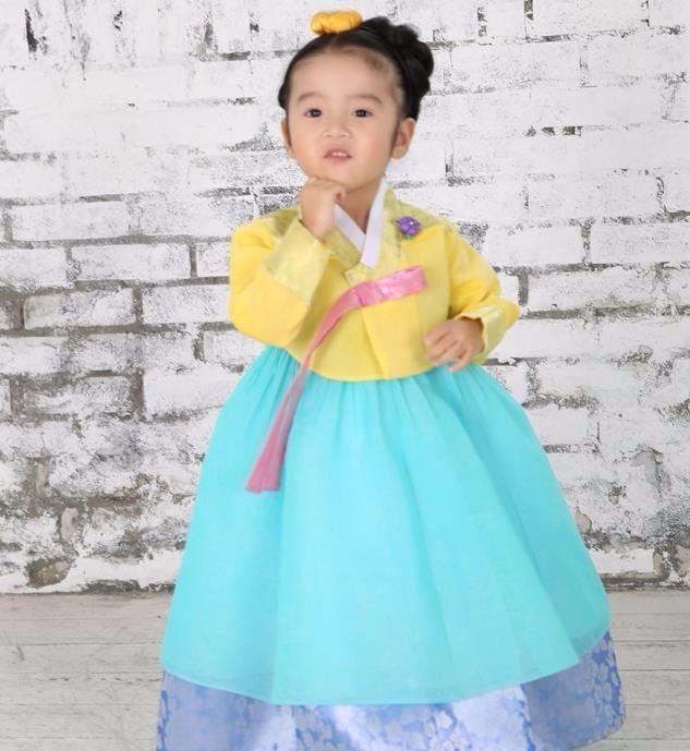 Hanbok Girl 7001 Korean traditional Dress Korea Baby 1st birthday Party Kids #Fairycloset