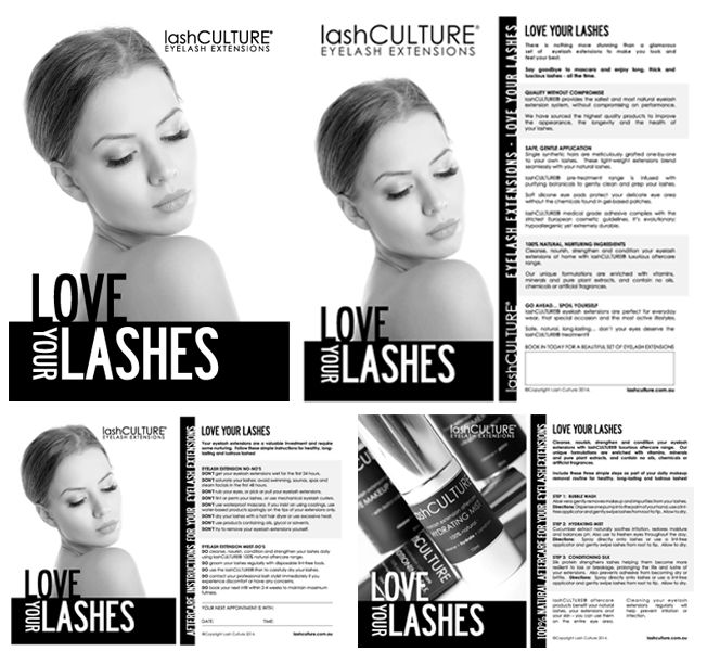 Love Your Lashes Campaign - Marketing Material