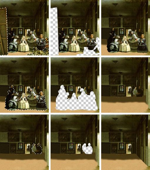 the making of Sophie Matisse's Las Meninas, 2001