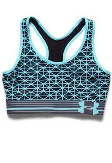 Under Armour Mid Printed Sports Bra for Women in Veneer