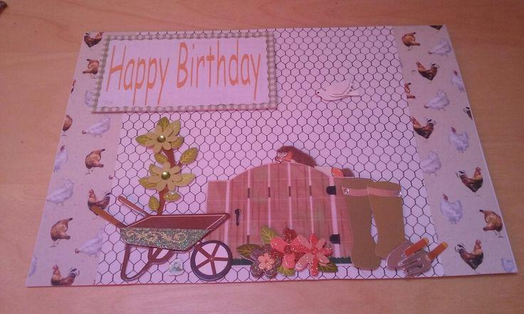 Best friends birthday card. Loves her garden & animals. #cardmaking#garden#animals#Bestfriends