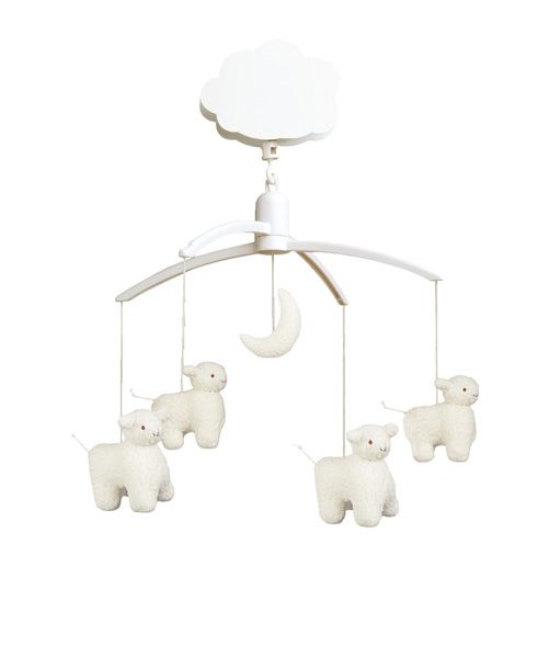 Trousselier White Sheep Musical Mobile