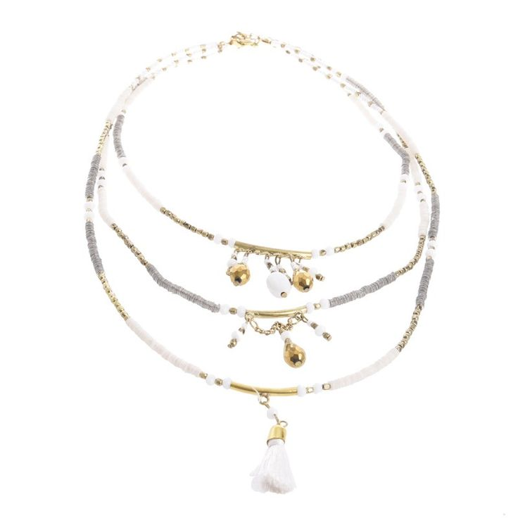 NECKLACE W/ TASSELS - Necklaces - Jewellery - Accessories