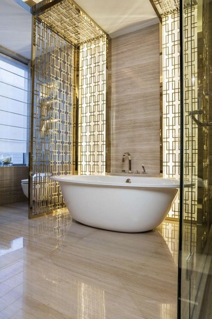 Interior decoration of bathroom - In This Bathroom Design Kelly Hoppen Decided To Add A Touch Of Glamour And Improve